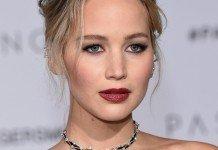 Jennifer Lawrence Festtagsfrisuren Blond Hochsteckfrisur