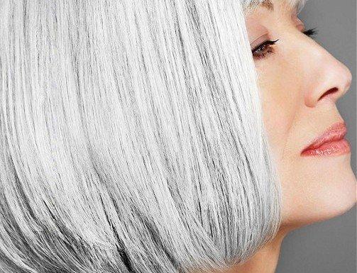 WHITE-HOT-Medium-Grau-weiblich-Gerade-Bob-Haircut-Reife-Frauen-Frisuren
