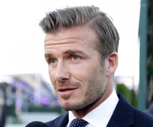 David Beckham Frisuren Seite Lang Blond Gel