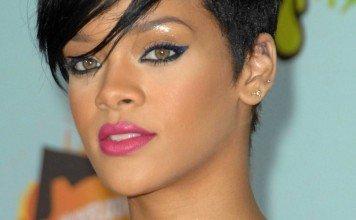 Rihanna Frisuren Bob Seiten Kurz Schwarz Kurzhaarfrisur Everett Collection / Shutterstock.com