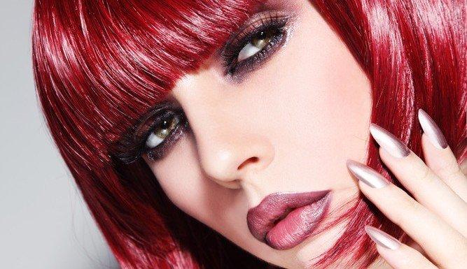 Marsala Haarfarbe Trend Kosmetik