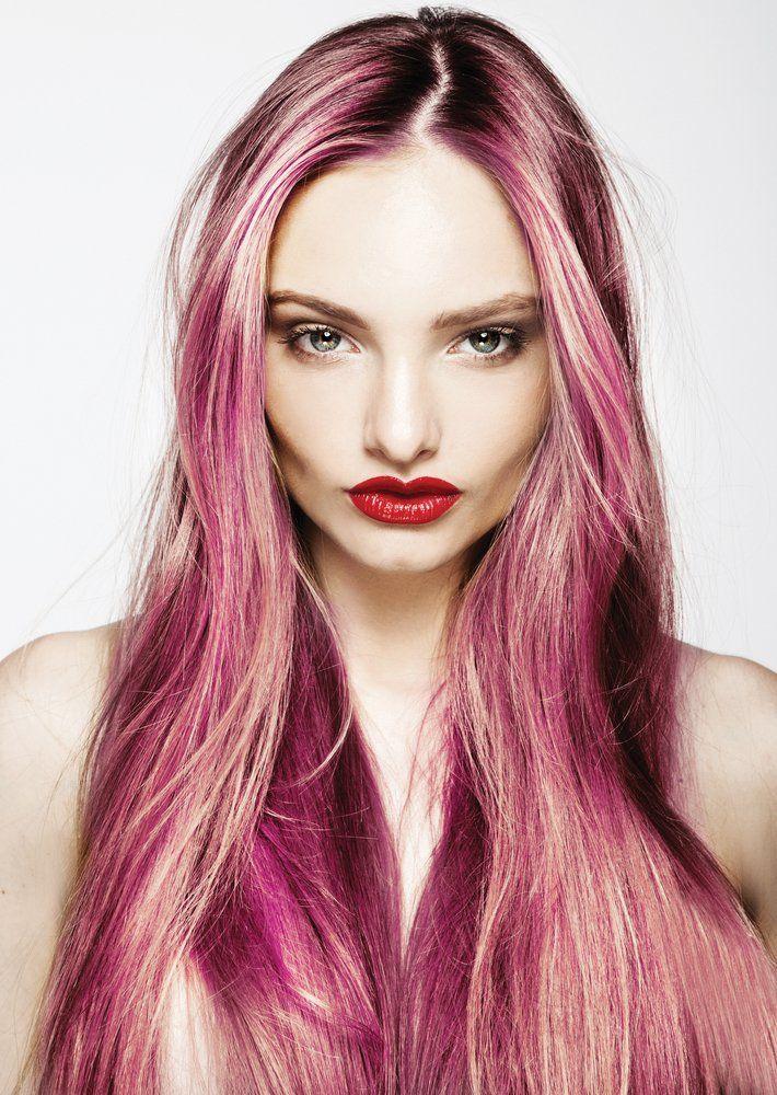 Multicolor Strahnchen Frisuren Magazin