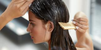 Haarmaske eine Haarkur für das Haar